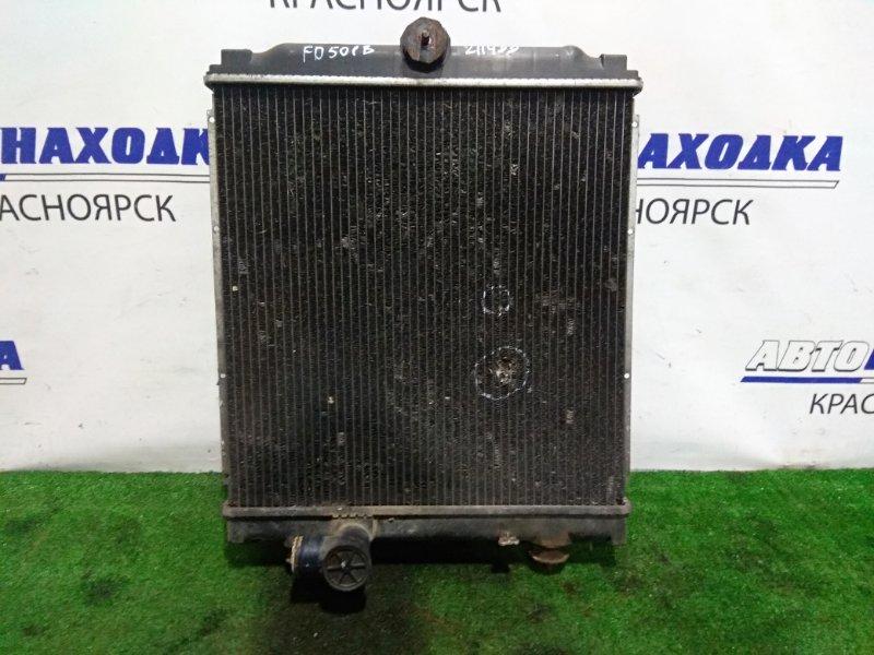 Радиатор двигателя Mitsubishi Canter FD501B 4M40 1994 MC127005 Под МТ. С дефектом- надо паять(пробили
