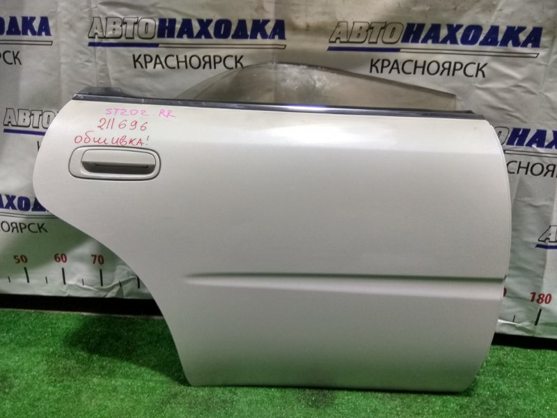 Дверь Toyota Corona Exiv ST202 3S-FE 1993 задняя правая RR без обшивки, цвет 046.