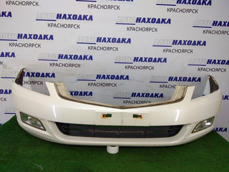 Бампер Honda Inspire UC1 J30A 2003 передний передний, белый перламутр, с туманками (P3376), царапины,