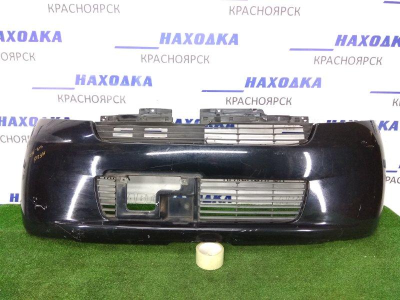 Бампер Suzuki Mr Wagon MF21S K6A 2001 передний 71711-73H00 передний, черный, потертости, царапины