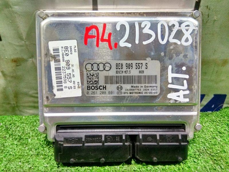 Компьютер Audi A4 B7 ALT 2004 0261208691, 8E0909557S блок управления ДВС