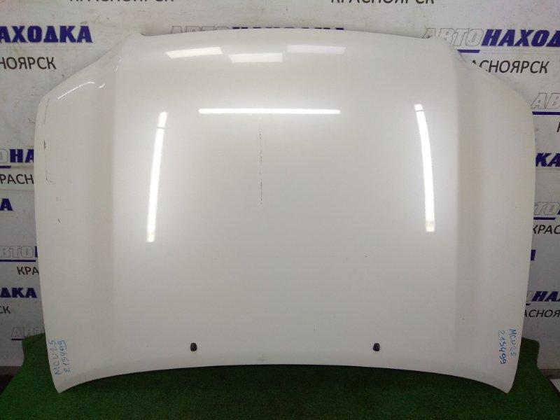 Капот Toyota Kluger MCU25W 1MZ-FE 2000 белый перламутр, ХТС