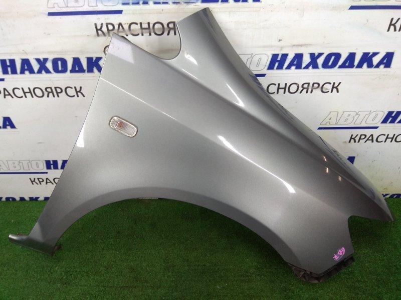 Крыло Honda Fit Aria GD8 L15A 2005 переднее правое переднее правое, серый, 2 модель, с повторителем,