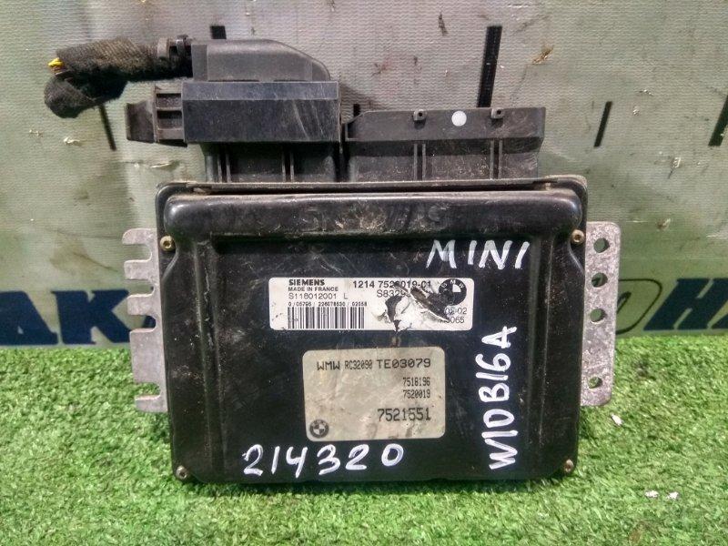 Компьютер Mini Cooper MINI R50 W10B16A 2001 12147520019, 7521551, 12147557395 блок управления ДВС