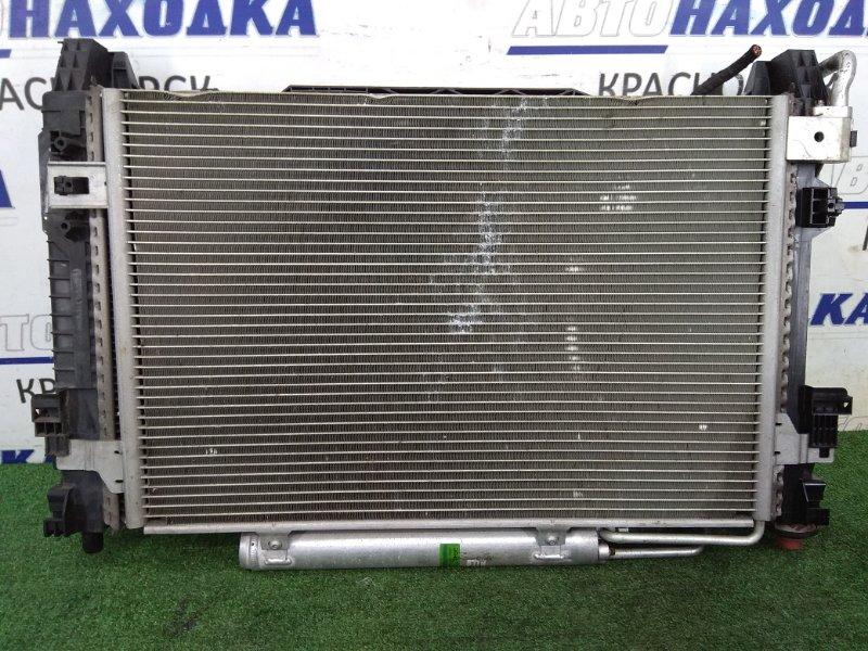 Радиатор двигателя Mercedes-Benz B170 245.232 266.940 2005 A 169 500 18 03 А/Т, в сборе с диффузором и
