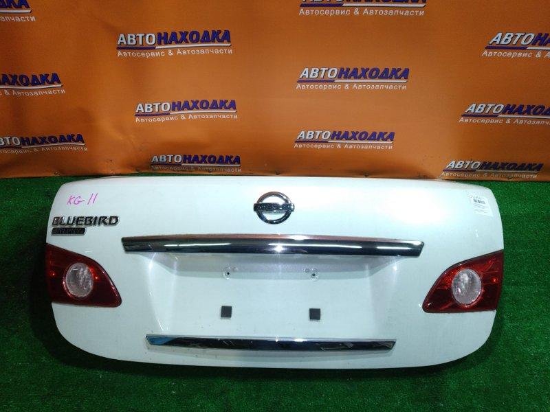Крышка багажника Nissan Bluebird Sylphy KG11 MR20DE 03.2007 132-63823 РАЗБИТА ПРАВАЯ ВСТАВКА,
