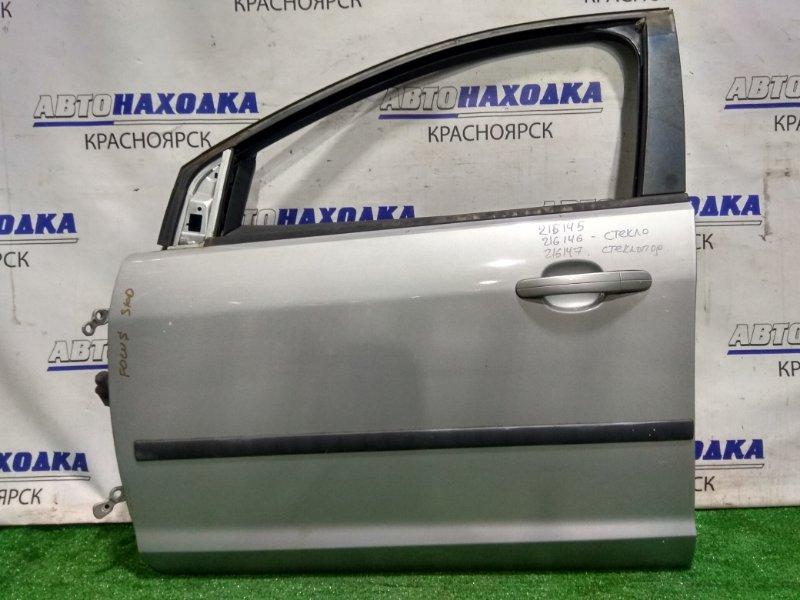 Дверь Ford Focus CB4 AODA 2004 передняя левая 1505704 FL без стекла и с/подъемника. Обшивка с правого