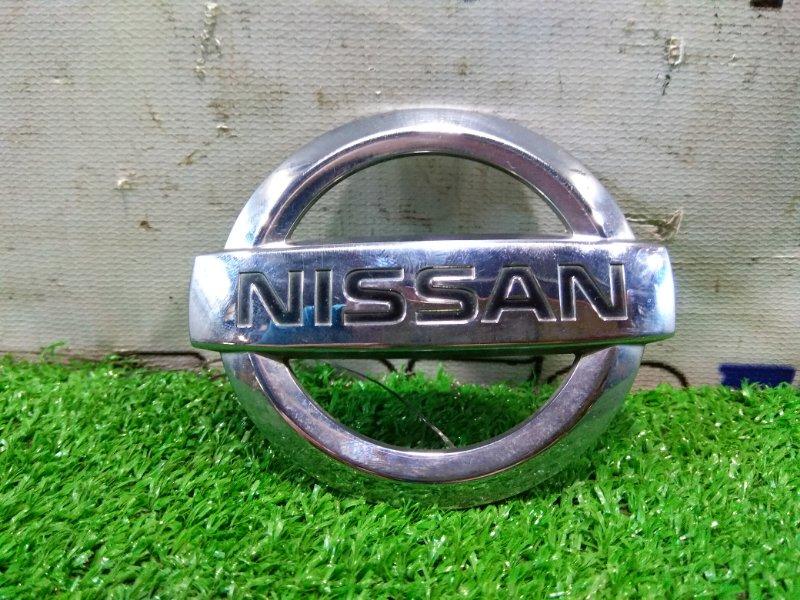 Эмблема Nissan Ad VY12 HR15DE 2006 задняя штатный значок с 5-й двери