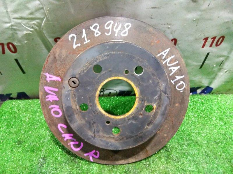 Диск тормозной Toyota Mark X Zio ANA10 2AZ-FE 2007 задний 42431-42060 задний 281x12
