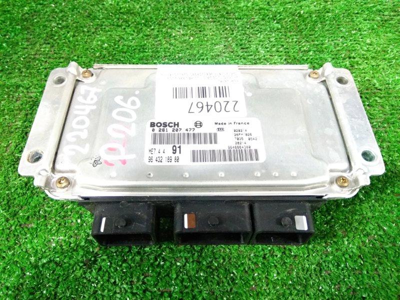 Компьютер Peugeot 206 2A/C TU5JP4 1998 0261207477, 9643218980 блок управления ДВС