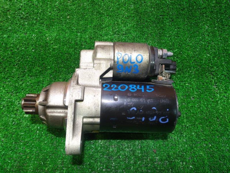 Стартер Volkswagen Polo 9N3 BUD 0001121402, 02M911023