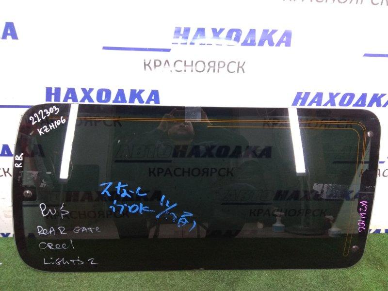 Стекло собачника Toyota Hiace KZH106G 1KZ-TE 1989 заднее правое Заднее правое откидное,