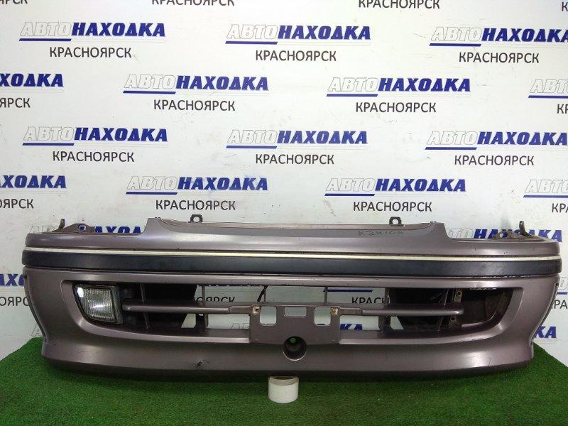 Бампер Toyota Hiace KZH106W 1KZ-TE 1996 передний 52119-26200 Передний, ЛЮКС, 2-ой рестайлинг, цвет серый,