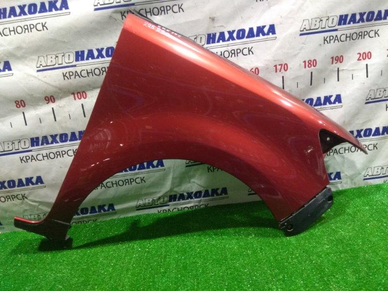 Крыло Toyota Corolla Rumion ZRE152N 2ZR-FE 2007 переднее правое 53801-12A50, 53801-12A51 FR с клипсой, цвет 3R6, почти в