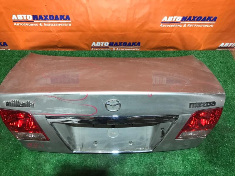 Крышка багажника Mazda Millenia TAFP KF-ZE 226-61927 2 мод серая, без вмятин, царапины по