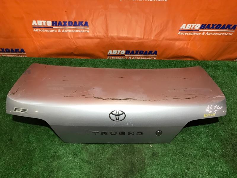 Крышка багажника Toyota Sprinter Trueno AE110 4A-FE серебро, без вмятин, под покраску.