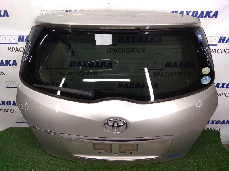 Дверь задняя Toyota Mark X Zio ANA10 2AZ-FE 2007 задняя с камерой, серая (код 1G7), хром ОК, с дворником,