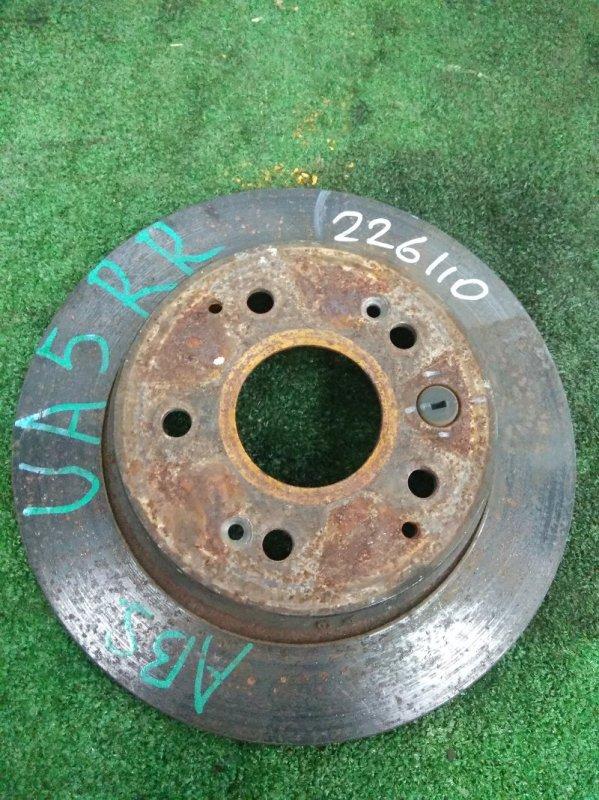 Диск тормозной Honda Saber UA5 J32A 1998 задний Задний, невентилируемый, D=282