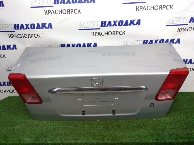 Крышка багажника Honda Civic Ferio ES1 D15B 2000 задняя серебро, хром ОК, с фонарями 1 модели (P0859),