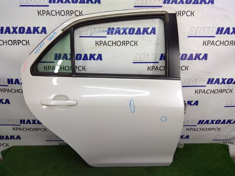 Дверь Toyota Belta SCP92 2SZ-FE 2005 задняя правая задняя правая, белый перламутр (код 070), в сборе,