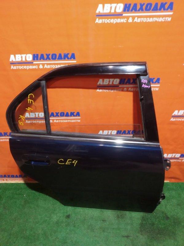 Дверь Honda Ascot CE4 G20A задняя правая RR синяя