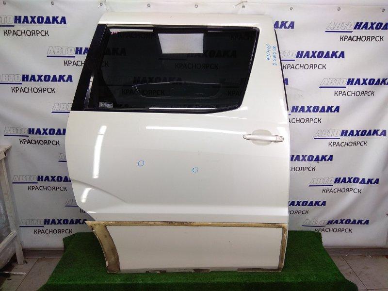 Дверь Toyota Alphard ANH10W 2AZ-FE 2002 задняя правая задняя правая, сдвижная, в сборе, белый