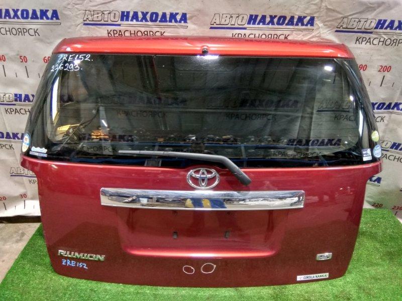 Дверь задняя Toyota Corolla Rumion ZRE152N 2ZR-FE 2007 задняя 6700512A90, 6810512350 В сборе. Цвет 3R6. почти ХТС