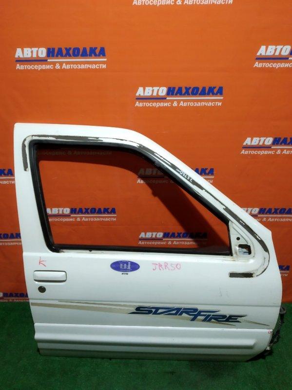 Дверь Nissan Terrano Regulus PR50 VG33E передняя правая FR белая, без блока упр. стеклоподъемника!