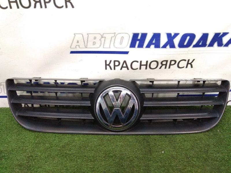 Решетка радиатора Volkswagen Polo 9N3 BMD 2005 6Q0853653E MK4, 2 модель, черная, хром ОК, подломано