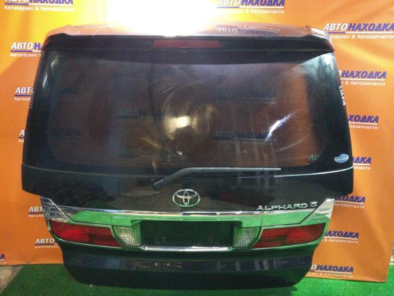 Дверь задняя Toyota Alphard ANH10 2AZ-FE 58-12 +МЕТЛА, КАМЕРА, +СПОЙЛЕР(СЛОМАН),