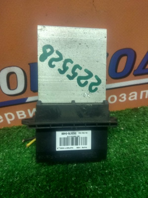 Реостат печки Nissan March AK12 CR12DE 582670-5400 VALEO ( ДВЕ ФИШКИ 6*2)