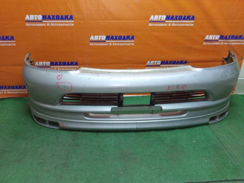 Бампер Toyota Granvia KCH10 1KZ-TE передний 1мод тюнинг, под санары, под покраску+лом уха