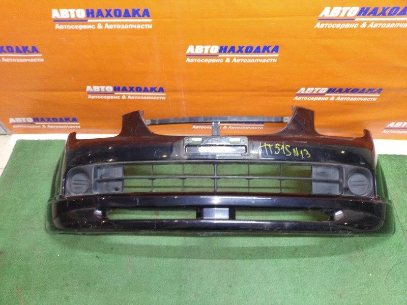 Бампер Chevrolet Cruze HR51S M13A передний черный+заглушки+накладка/под полировку