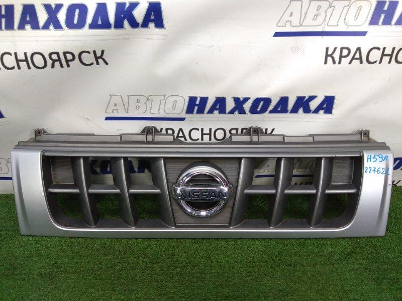 Решетка радиатора Nissan Kix H59A 4A30 2008 7450A616ZZ серебро (CLN)
