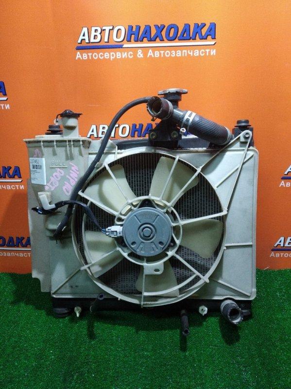 Радиатор двигателя Toyota Porte NNP10 2NZ-FE AT, В СБОРЕ