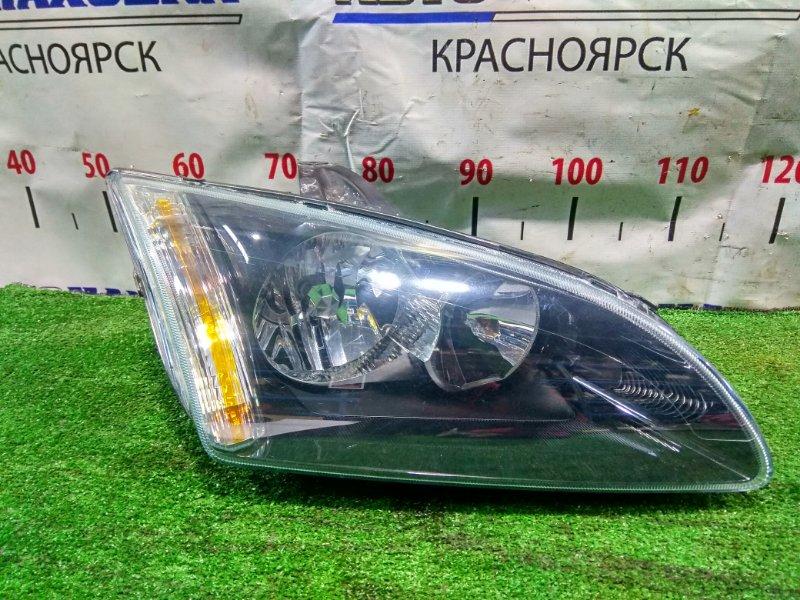 Фара Ford Focus CB4 AODA 2004 передняя правая 1480986, 4M51-13099-KD Правая, 1 мод. (дорестайлинг). Черный фон.