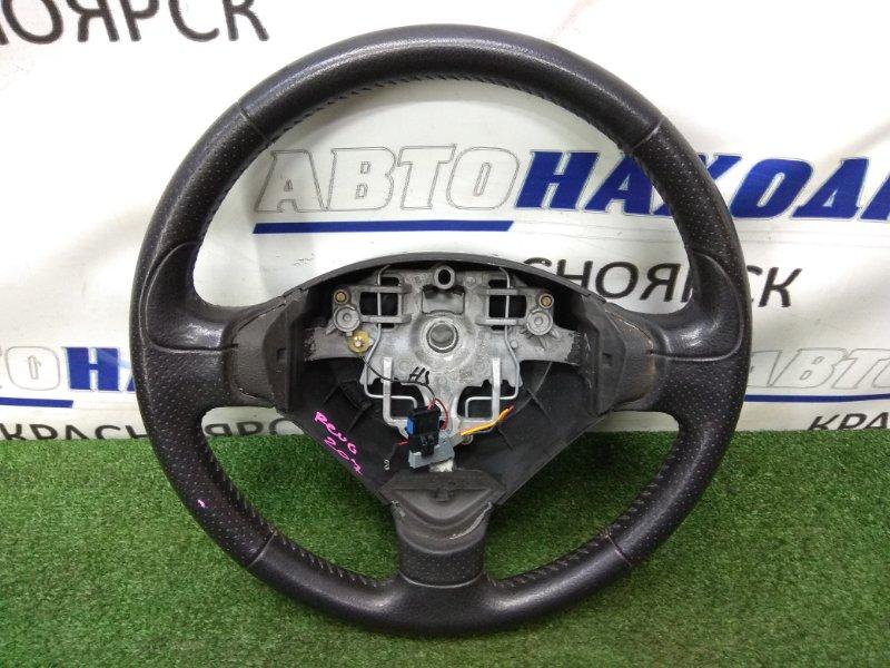 Руль Peugeot 207 WC EP6 2007 передний правый черный, кожа, без AIRBAG
