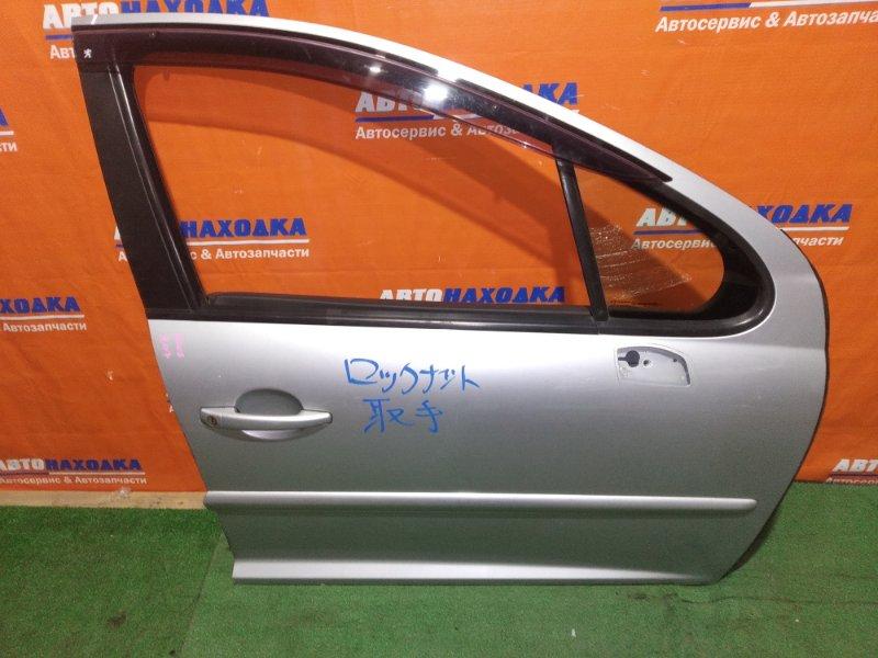 Дверь Peugeot 207 WC TU3A 2006 передняя правая ветровик+петли, можно не красить, под полировку!