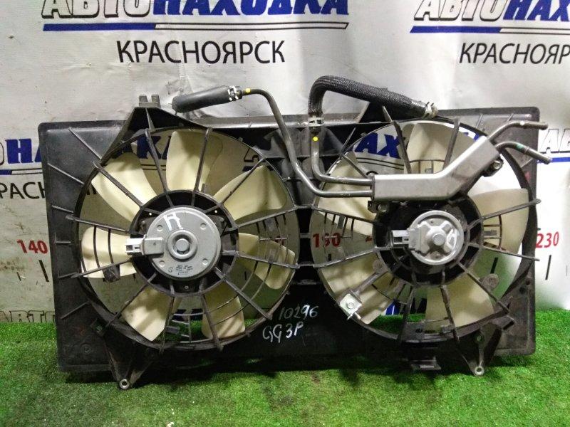 Вентилятор радиатора Mazda Atenza GG3P L3-VE 2005 16800-8000, 263500-5950 сплошной диффузор с 2