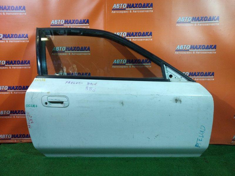 Дверь Honda Prelude BB6 H22A передняя правая (без кронштейнов, без ручки двери внутренней)