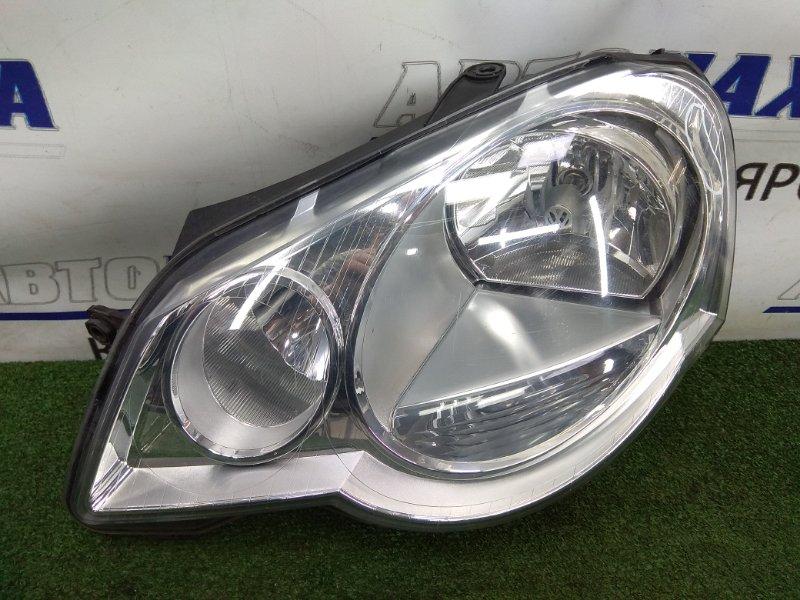 Фара Volkswagen Polo 9N3 BUD 2005 передняя левая 6Q2941007J POLO MK4, 2 модель, правый руль, левая,
