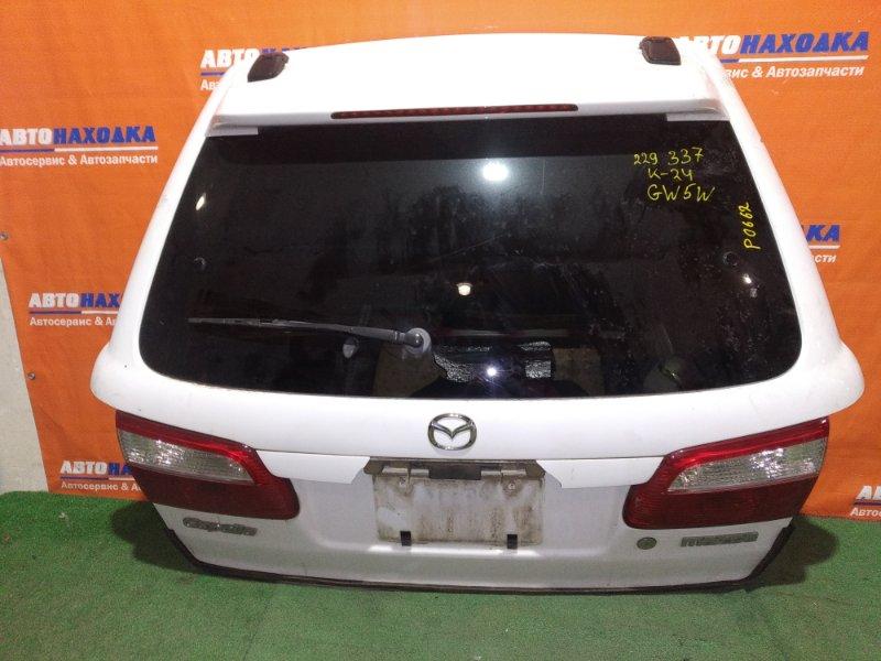 Дверь задняя Mazda Capella GWEW FS-ZE 1999 ХТС цвет A3D сломана ручка +дворник+мотор