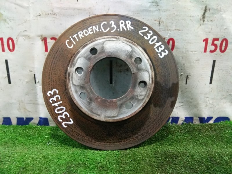 Диск тормозной Citroen C3 F TU5JP4 2001 задний 424953 задний, Пробег 48 т.км D=247мм