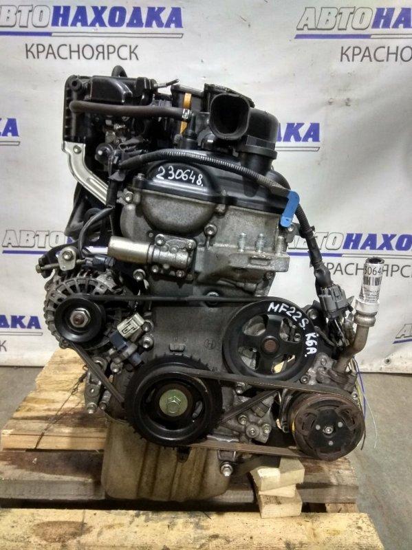 Двигатель Suzuki Mr Wagon MF22S K6A 2009 A121955 № A121955, В сборе! (Все кроме выпускного коллектора)