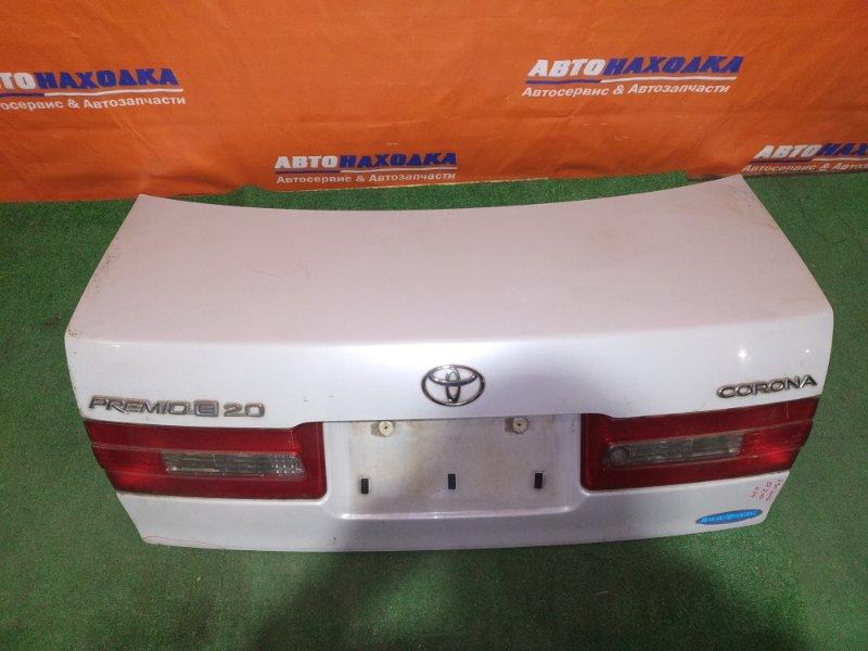 Крышка багажника Toyota Corona Premio ST210 3S-FSE 1997 2мод цвет 2EG хтс есть сколы, ф.20-398