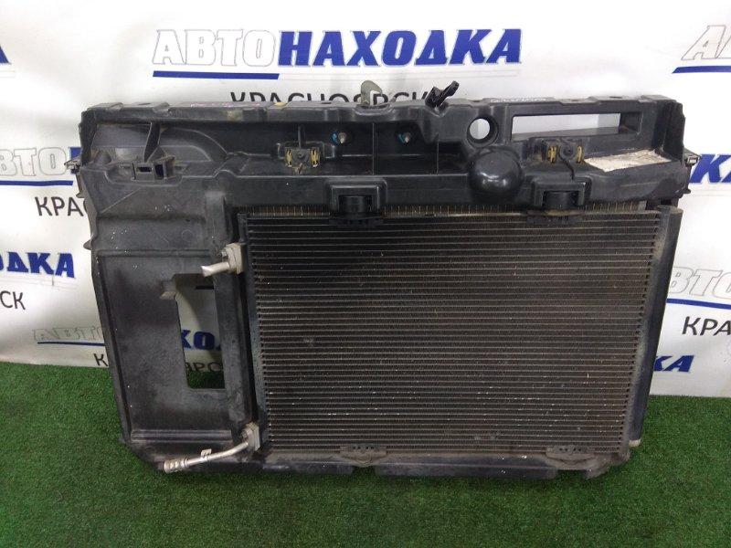 Рамка радиатора Peugeot 207 WC TU3A 2007 передняя 9680103880 пластиковая, CITROEN C3, в сборе, с