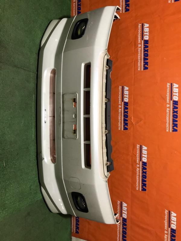 Бампер Honda Mobilio Spike GK1 L15A 2002 передний 1мод губа+туманки/ХТС