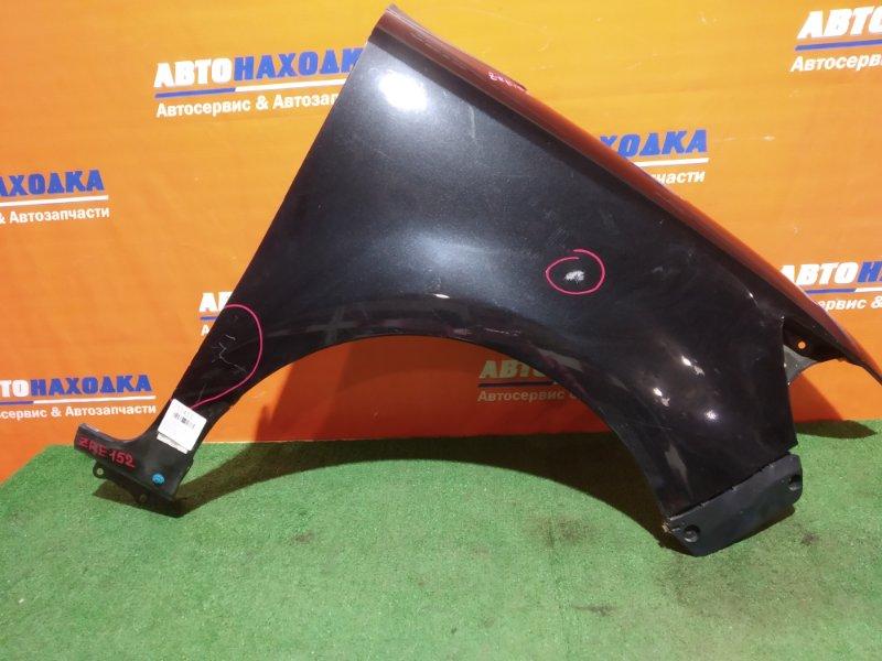 Крыло Toyota Corolla Rumion ZRE152H 2ZR-FAE 2007 переднее правое под покраску/клипса+пластик уголок/без