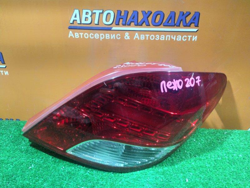 Фонарь задний Peugeot 207 WC EP6 правый 6351HQ / 968656598000
