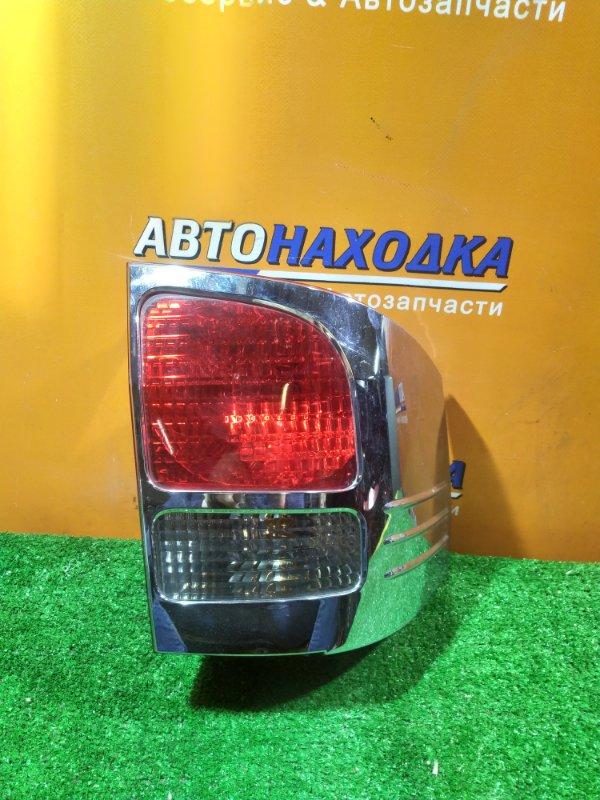Фонарь задний Toyota Alphard ANH10 2AZ-FE левый 58-5 +ХРОМ НАКЛАДКА